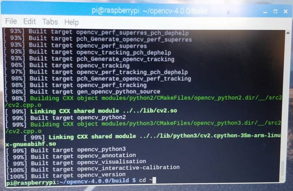 How to install the Python OpenCV on Raspberry Pi using CMake