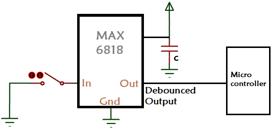 Switch Debouncing Circuit using MAX6818