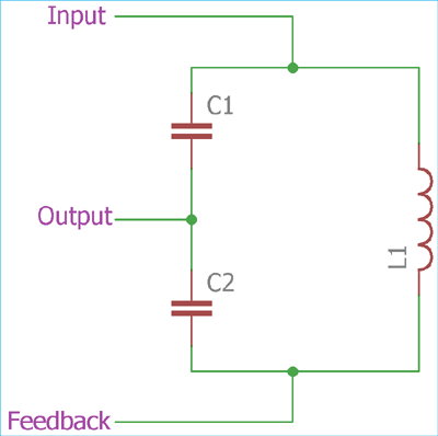 Tank Circuit for Colpitts Oscillator