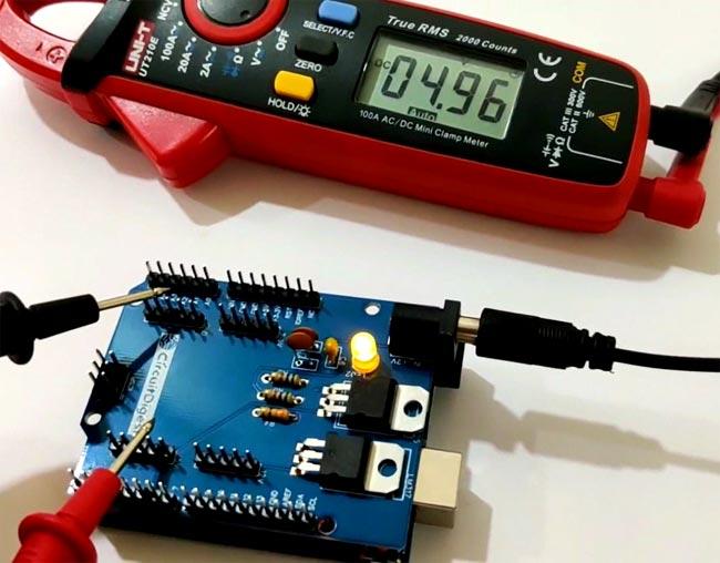 Testing 3.3v Power Supply Arduino Shield