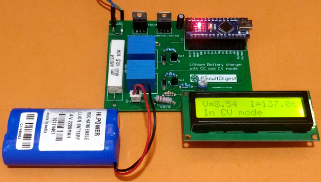 Testing 7.4V Two Step Lithium Battery Charger Circuit