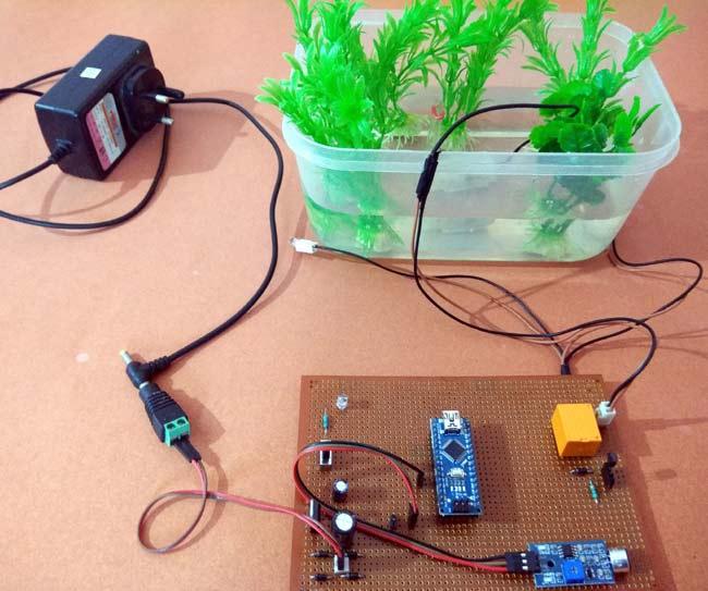 Arduino Controlled Musical Water Fountain using Sound Sensor