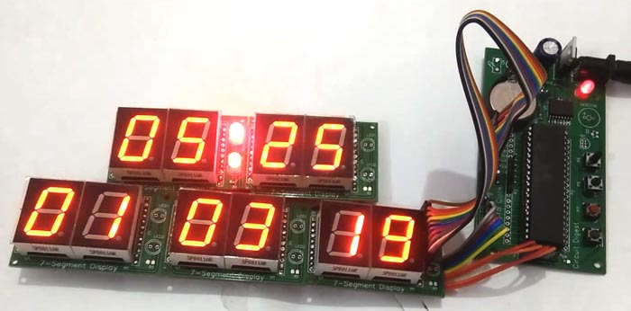 Testing Digital Wall Clock using AVR Microcontroller Atmega16 and DS3231 RTC