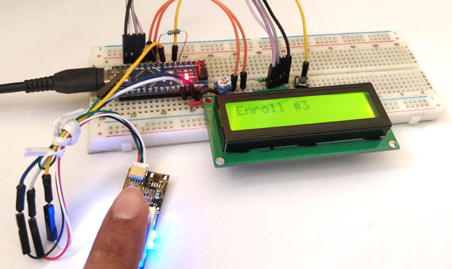 Testing GT511C3 Finger Print Sensor with Arduino