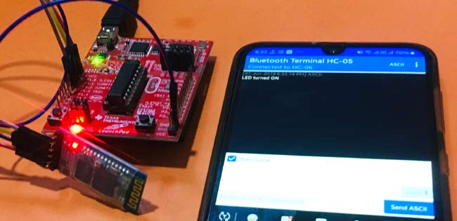 Testing HC-05 Bluetooth Module with MSP430 Launchpad