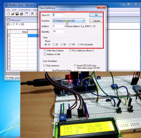 Testing Modebus Slave Tool for RS485 Serial Communication