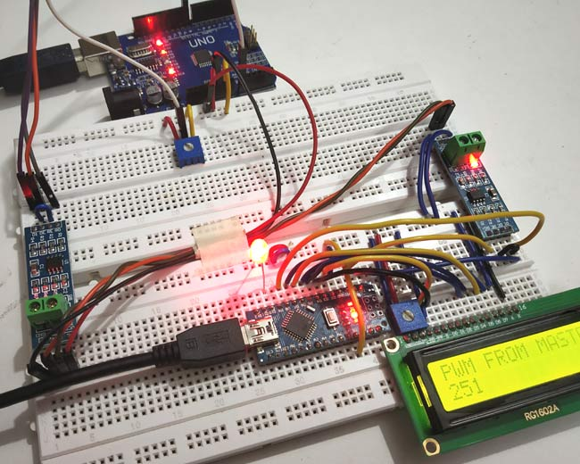 Testing RS485 Serial Communication between Arduino Uno and Arduino Nano