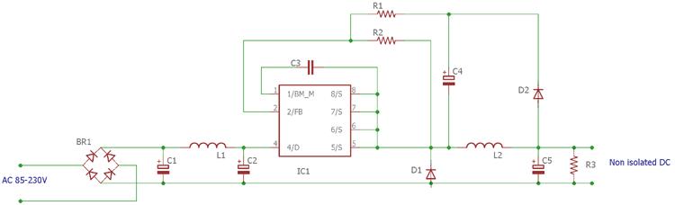 Transformerless LED Driver Circuit Diagram