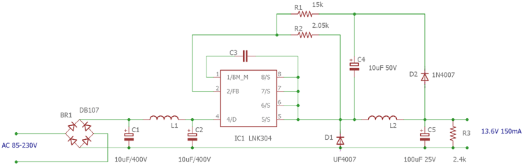 Transformerless Led Driver Circuit For