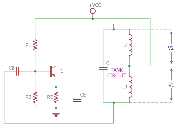 Transistor based Hartley Oscillator