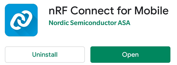 Using nRF Connect Android App for ESP32 iBeacon