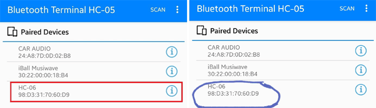 Working of Bluetooth Controlled LED using MSP430