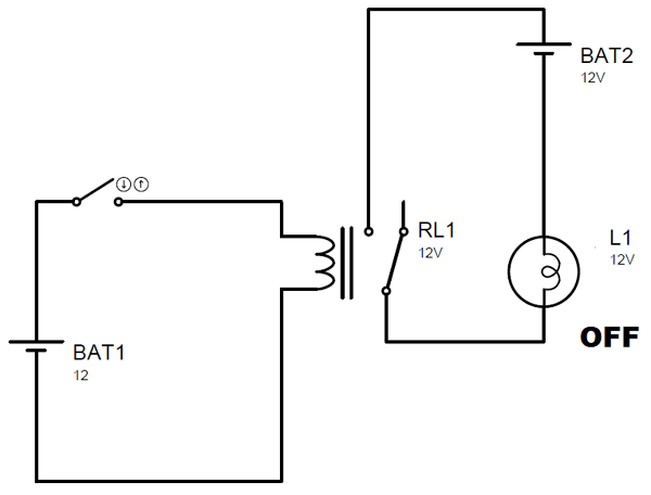 Working of Relay in NO Condition