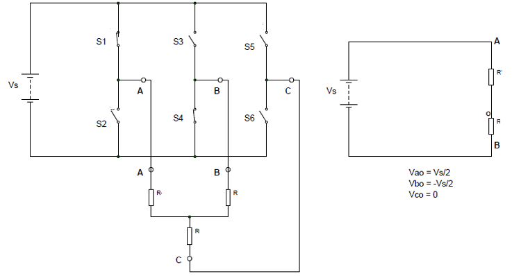 Three Phase Inverter Circuit- 120 Degree Conduction Mode