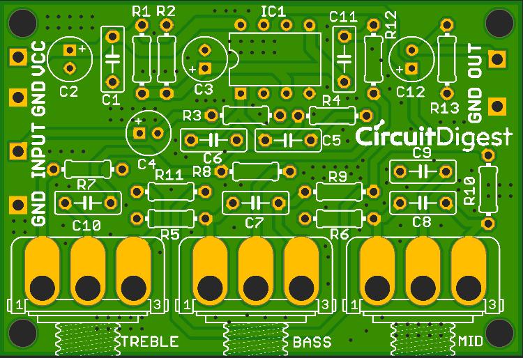 Active Audio Filter PCB Design