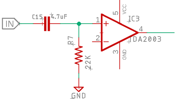 Amplifier Filter Circuit