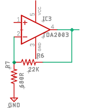 Amplifier Gain Circuit
