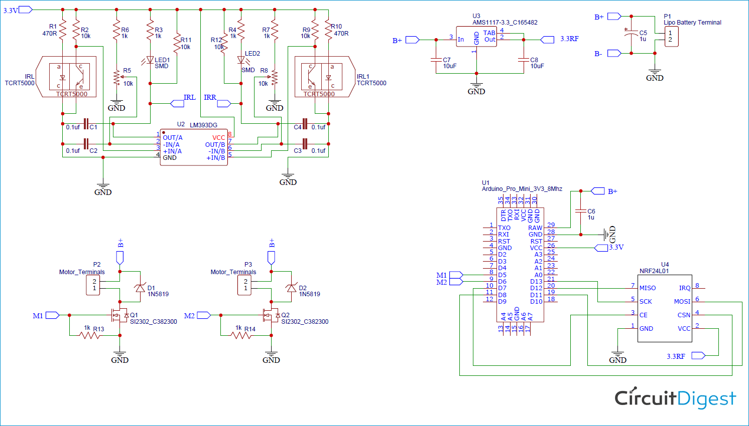 Arduino RC Car Circuit Diagram