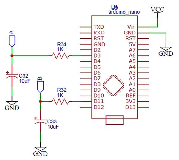Circuit Schematic of Arduino Sine Wave Generator