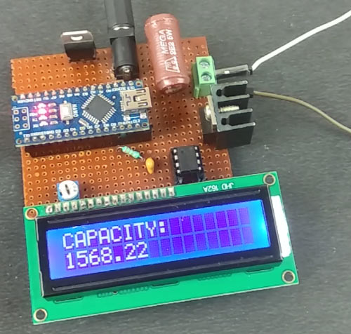 Battery Capacity Tester using Arduino