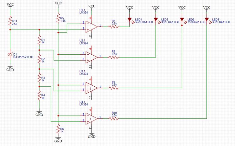 Battery Level Indicator Circuit