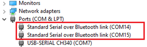 COM Port for Bluetooth Module