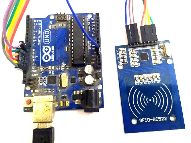 Arduino RFID RC522 Circuit Connections