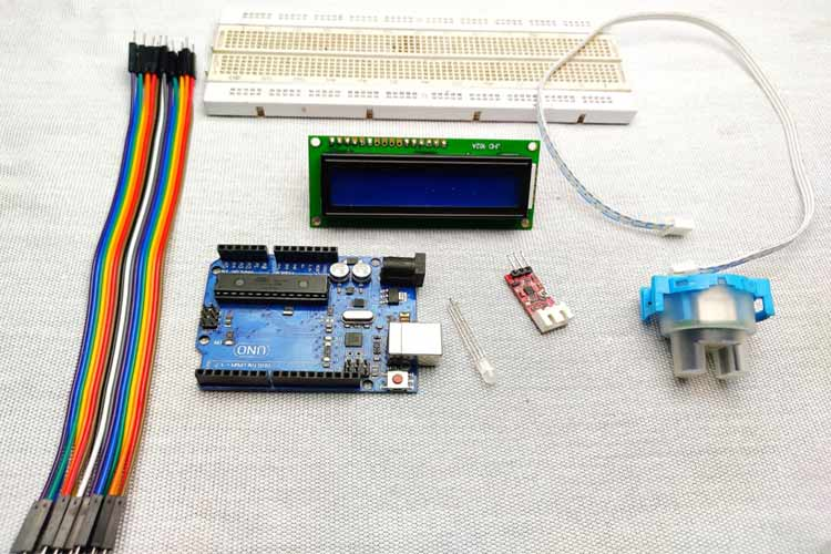 Arduino Turbidity Meter Required Components