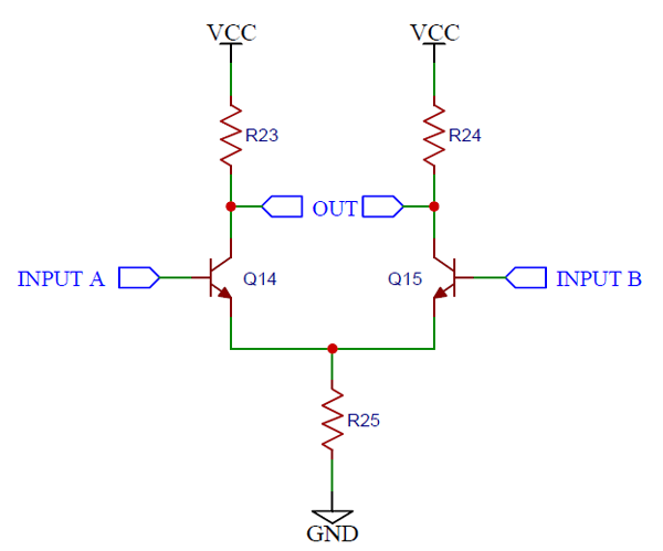 Circuit Schematic for Simple Differential Amplifier