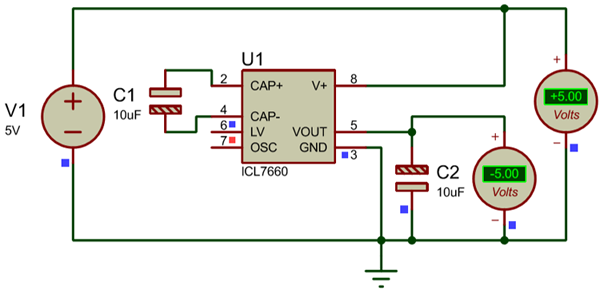Dual 5V power supply Simulation