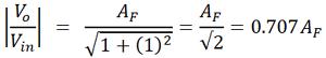 First order Butterworth Filter Formula