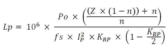 Formula for Transformer's Primary Inductance
