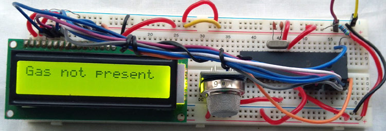 Gas Sensor with PIC Project