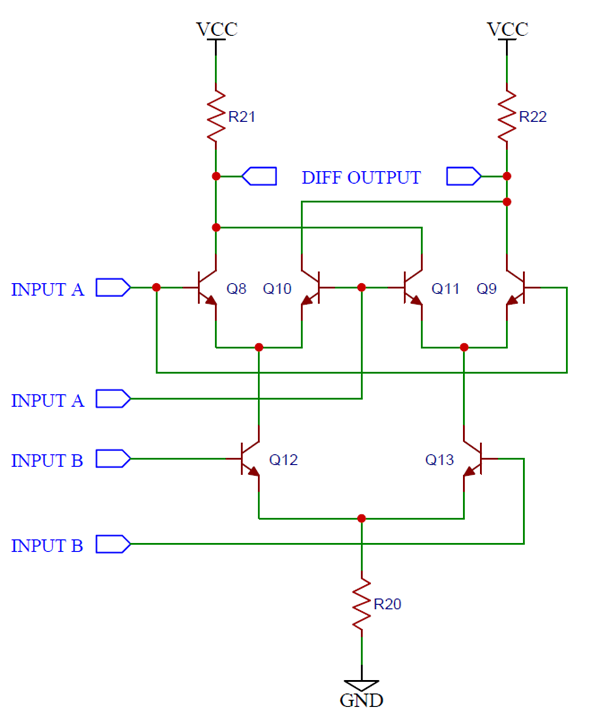 Circuit Schematic of Gilbert Cell Mixer
