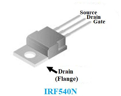 IRF540N pinout diagram
