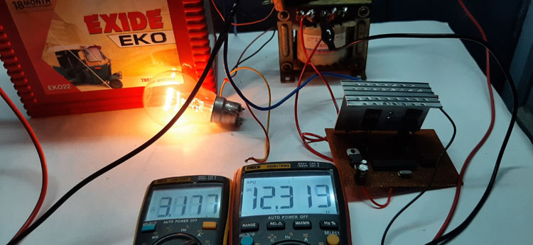 SPWM Inverter's Input Power Consumption