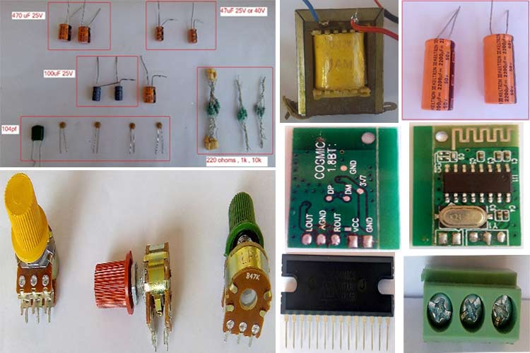 Audio Amplifier Required Components