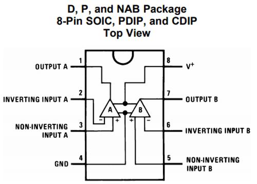 LM358 Pin Diagram