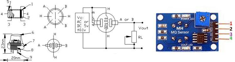 MQ6 Gas Sensor Pinout_0