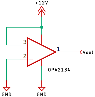 OPA2134 Configuration