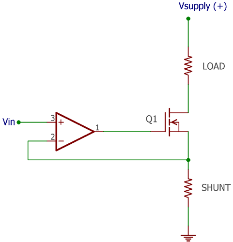 Voltage Controlled Current Source using Op-Amp
