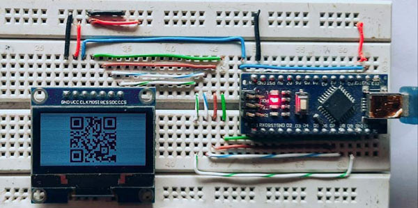 QR Code Generator Using Arduino