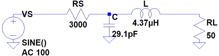 Resulting L filter circuit
