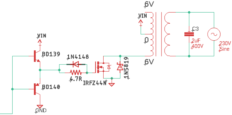 SPWM Inverter Working Circuit