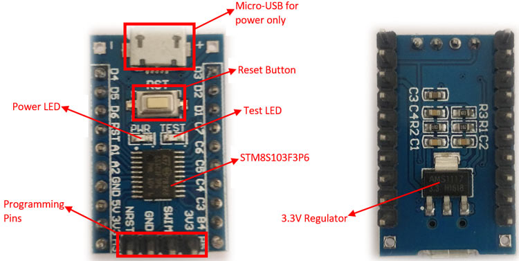 STM8S103F3P6 Development Board Overview
