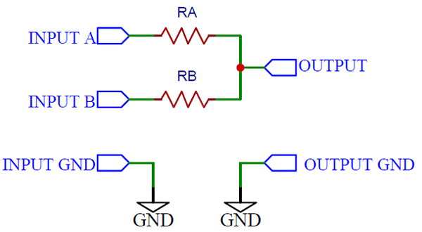 Simplest Analog Mixer Circuit