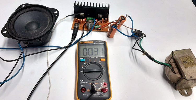 TDA2050 Amplifier Circuit Testing