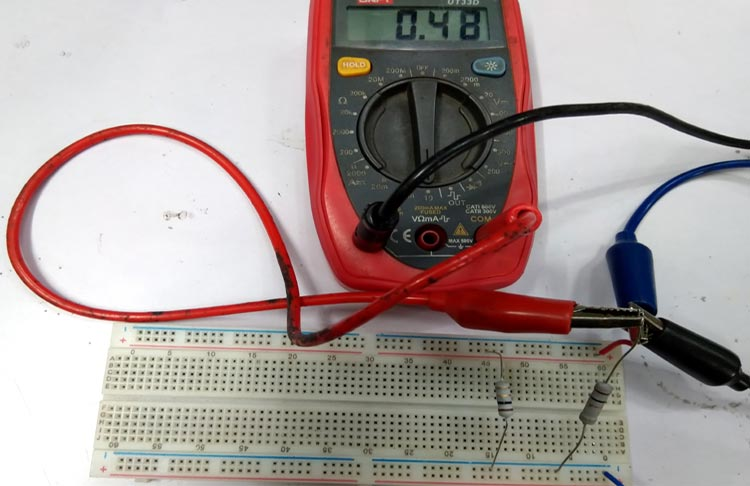 Testing Current Divider Circuit