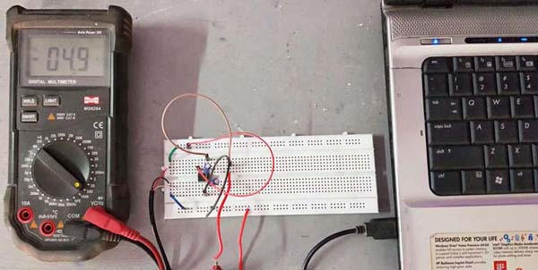 Testing Setup for 5V Dual Power Supply