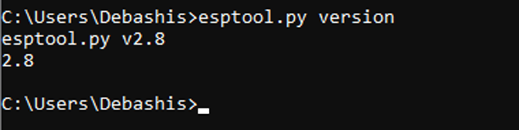 esptool.py Version Command